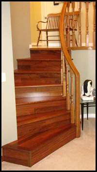 Calgary Hardwood: MAB Hardwood Calgary Front Stairs MAB Hardwood Flooring is a customer oriented company serving Calgary and area since 2002